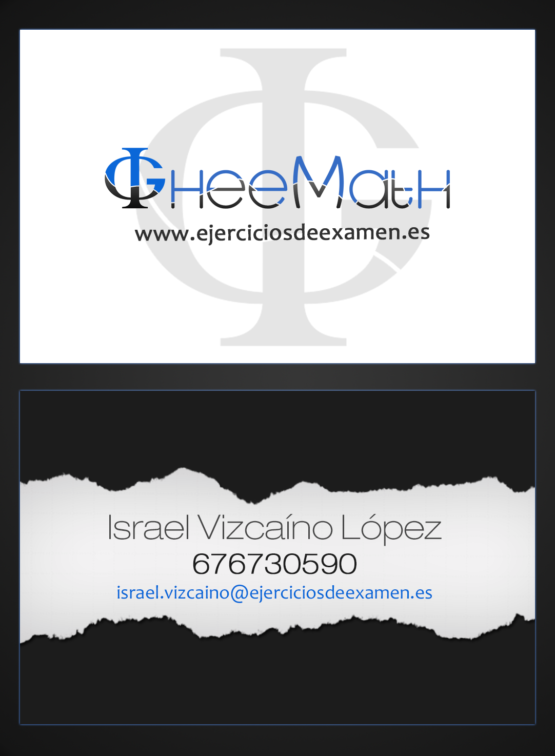 Diseño tarjeta GheeMarth