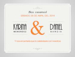 Karina y daniel, invitacion