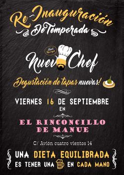 Cartel Bar Nuevo chef