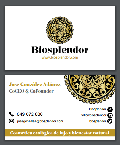 Tarjeta de visita Biosplendor