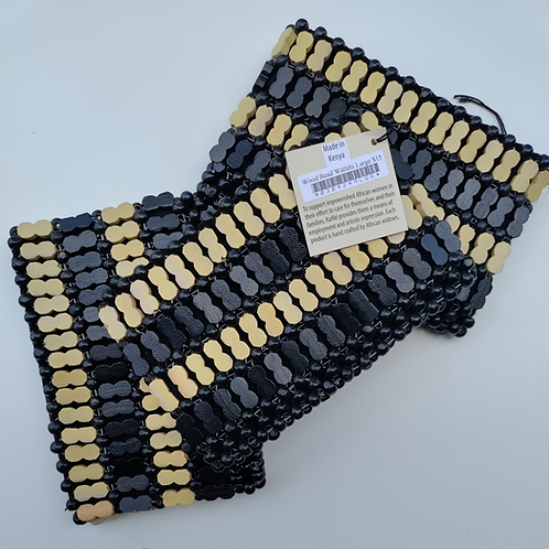 Wood Bead Wallet