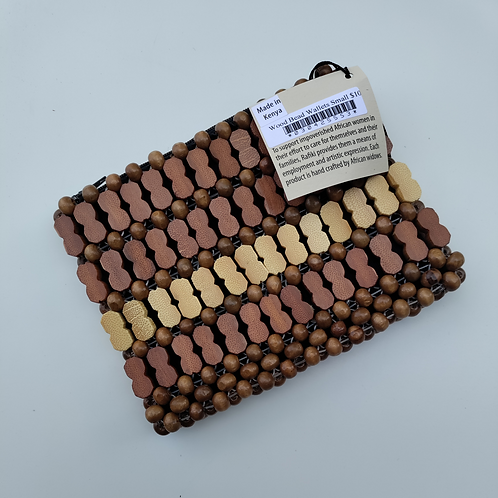 Wood Bead Wallet