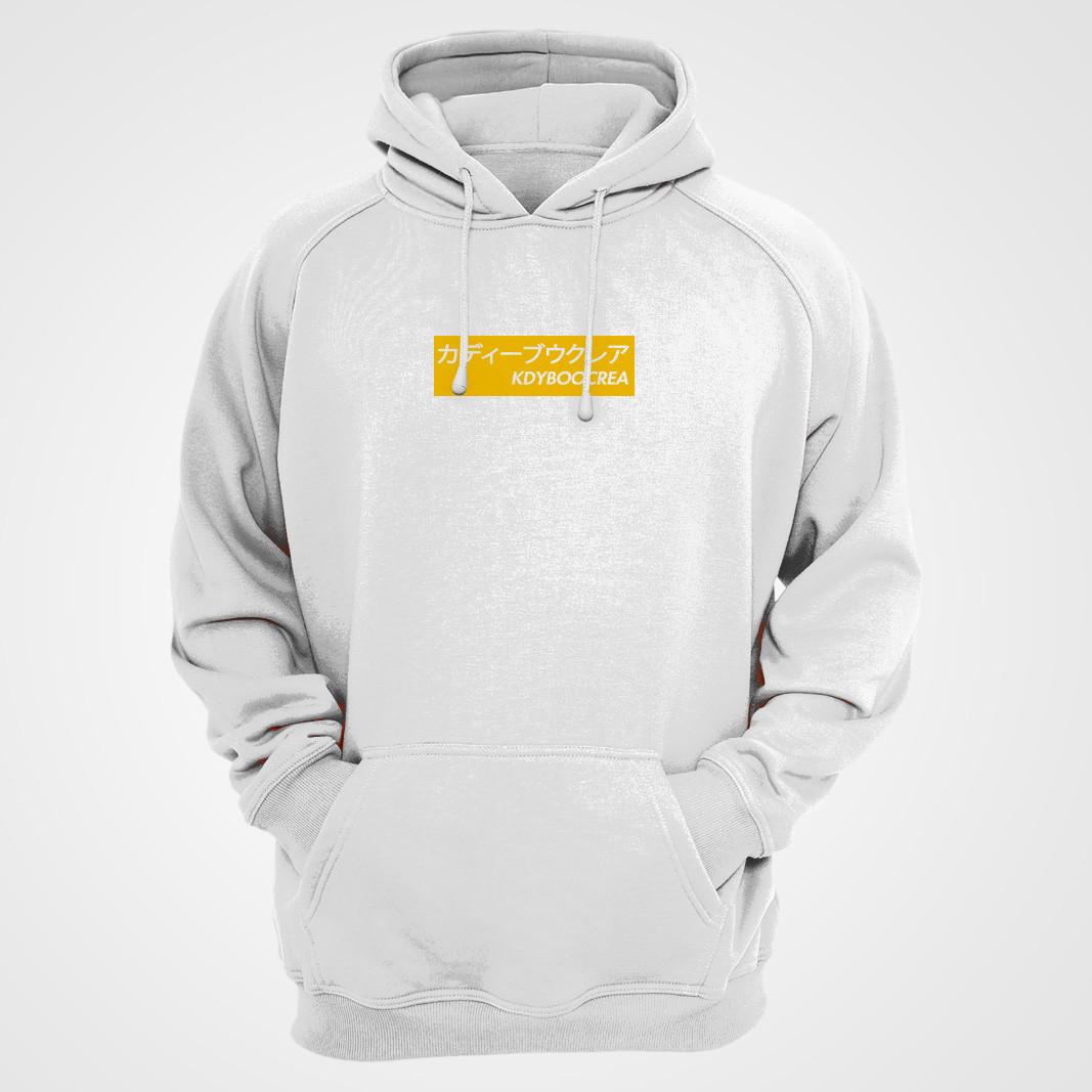 Hoodie blanc box logo jaune.jpg