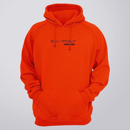 Hoodie Orange LOGO KDYBOOCREA, JP