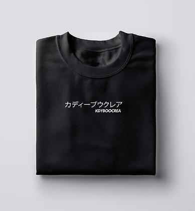 Tshirt Noir LOGO KDYBOOCREA, JP
