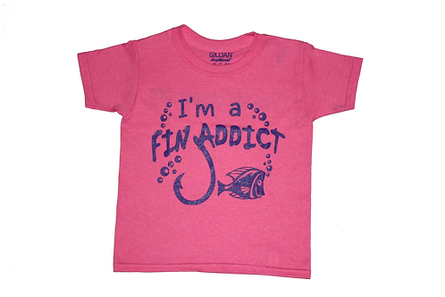 Relaxed Crew-Neck 'Fin Addict Kid' Graphic Tee