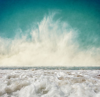 Ocean waves with fog rising at the horizon.jpg  Image displays a pleasing grain texture at