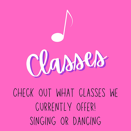 Singing and dance classes