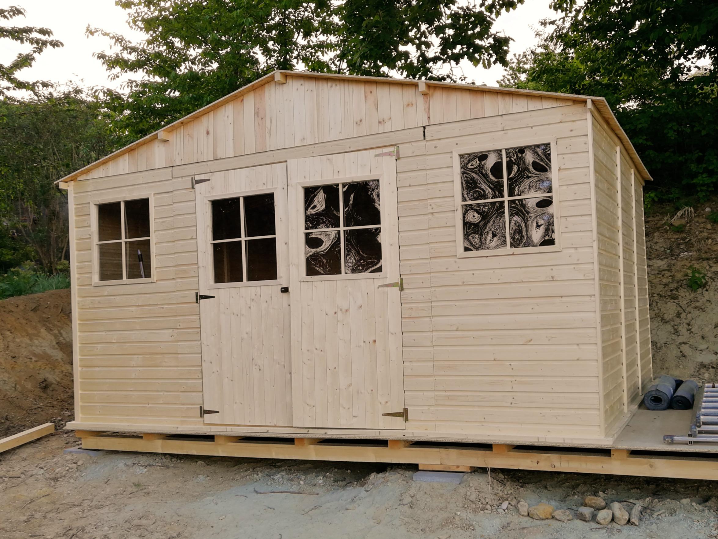 Gartenhaus quasi fertig...
