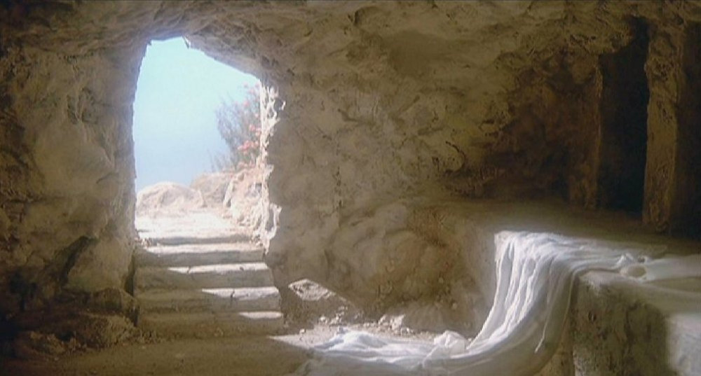 Image of Jesus' empty tomb