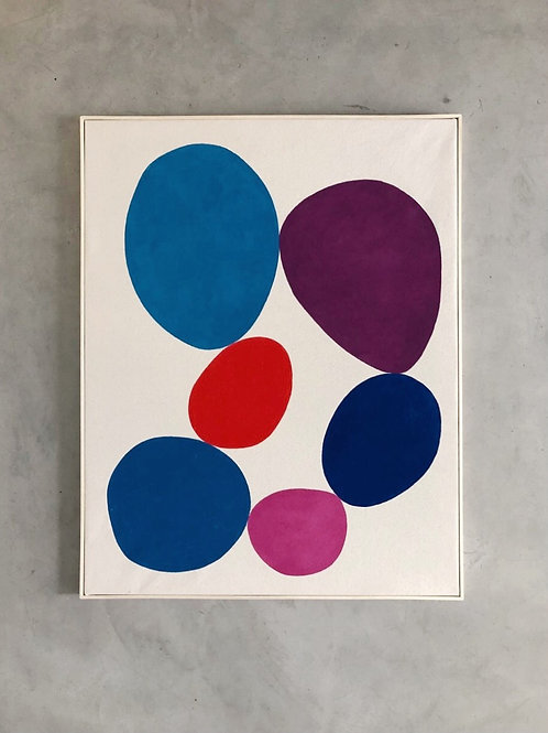 tela círculo de pedras • eduardo sancinetti | com moldura