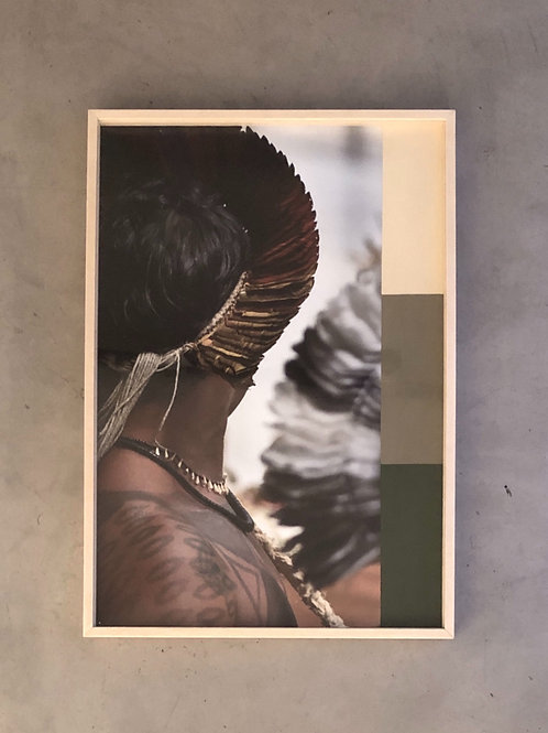 pintura sobre fotografia  • fulni-ô II • raphael rovere dias | com moldura