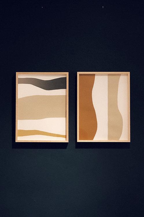 pintura vista I e II  • raphael dias   com moldura