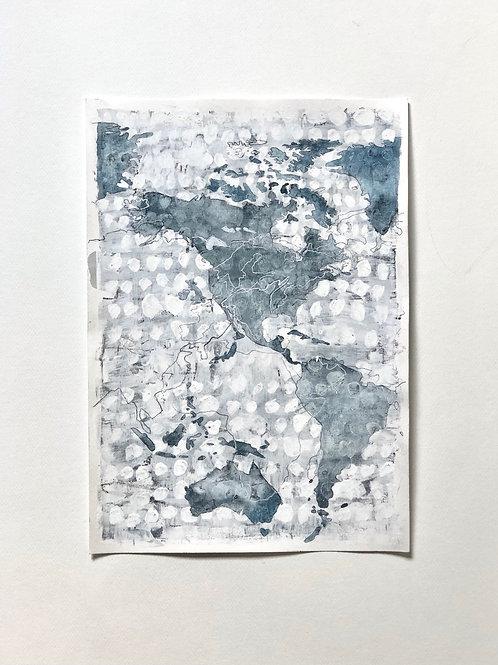 mapa mundi • com moldura • lila marques de souza