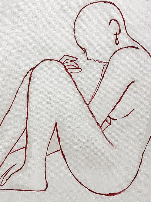 pintura acrylic woman n. 6 • moisés odorissio