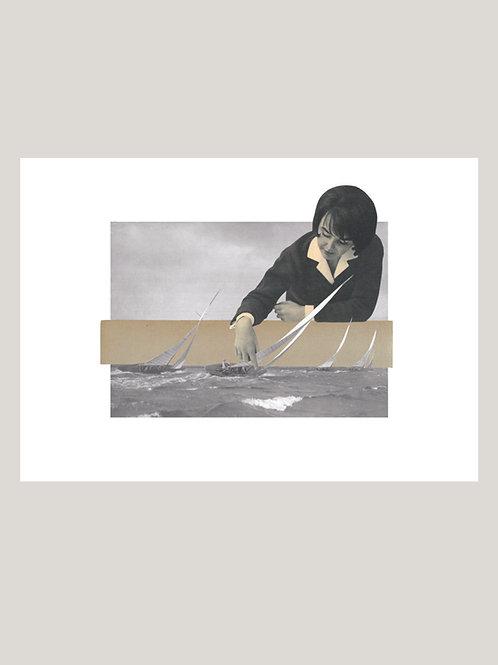 fine art colagem barcos • guilherme figueiredo