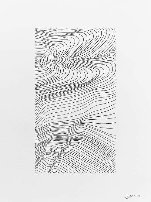 gravura linhas sem título nº 5 • glauber sampaio | exposição orto