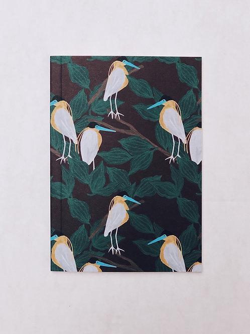 caderno wildness • estampa pássaro vinho