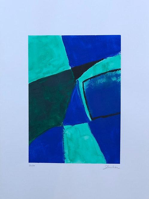 pintura  tons de azul   • glauber sampaio   sem moldura