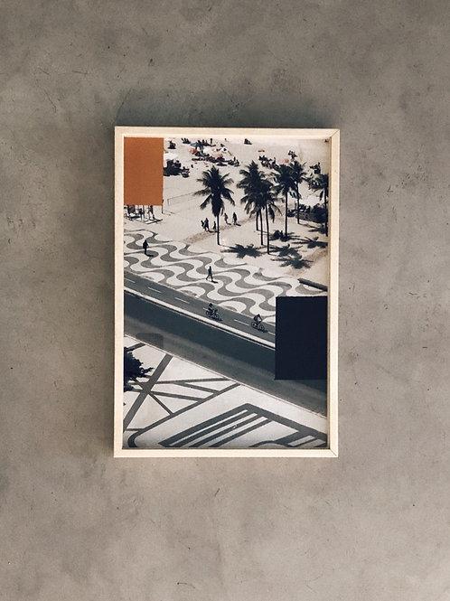 rio II • 45x30cm • pintura sobre fotografia  •  raphael dias | com moldura