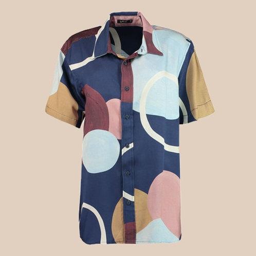 camisa unissex bolas marinho
