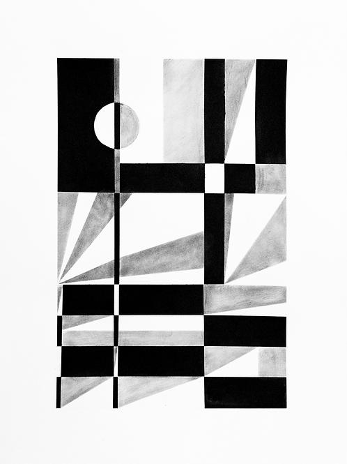 estudo geométrico nº 13 • glauber sampaio | com moldura