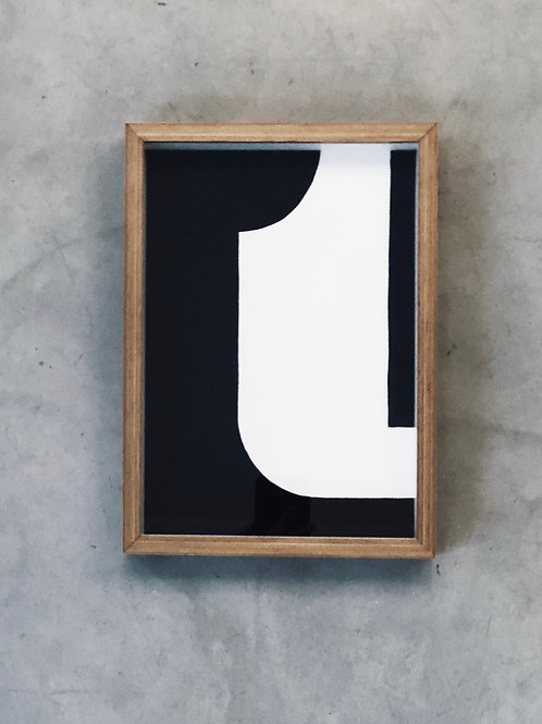 pintura série formas n5 • raffaele asselta | com moldura