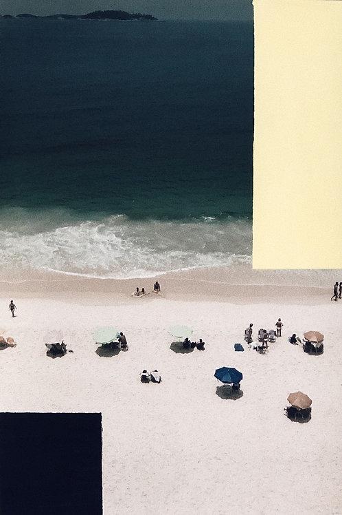 pintura sobre fotografia • rio III • raphael rovere dias   com moldura • 45x30cm