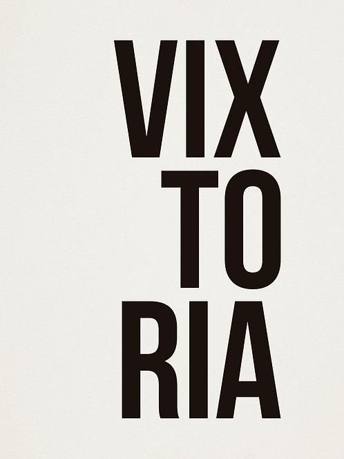 poster vixtoria • ouve