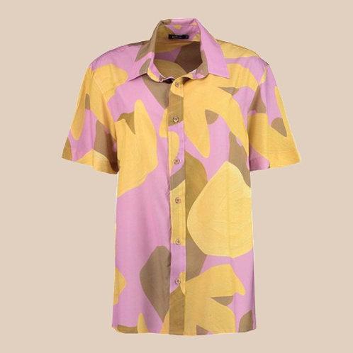 camisa unissex coral lilás