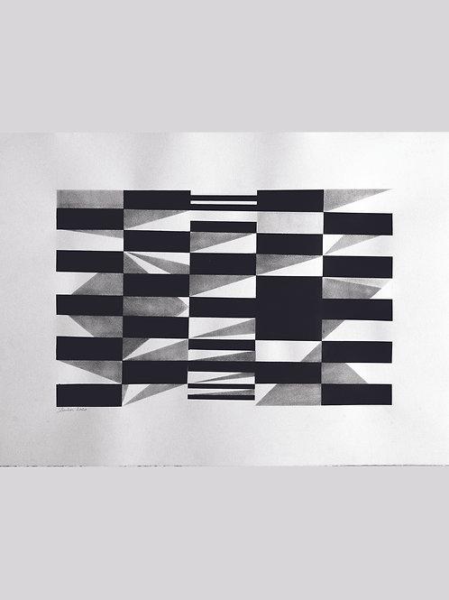 pintura estudo geométrico nº 11• glauber sampaio | com moldura