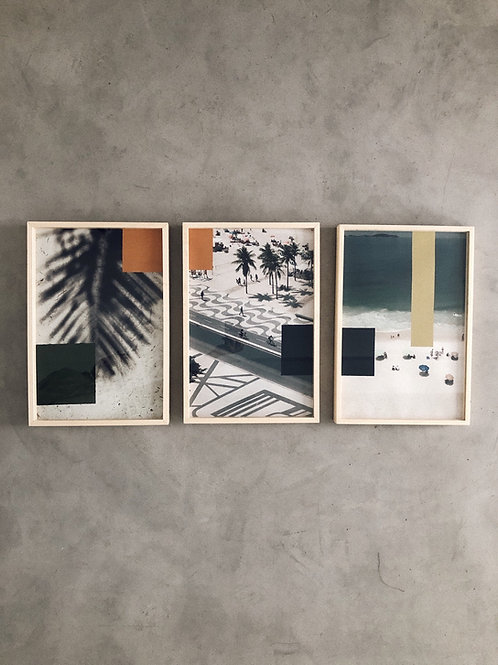 trio rio I • pinturas sobre fotografia • raphael rovere dias | com moldura