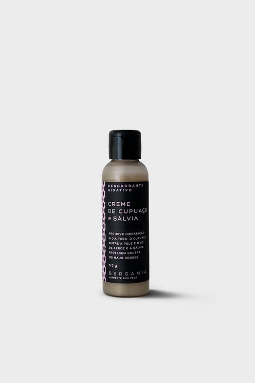 desodorante bioativo em creme de cupuaçu e sálvia