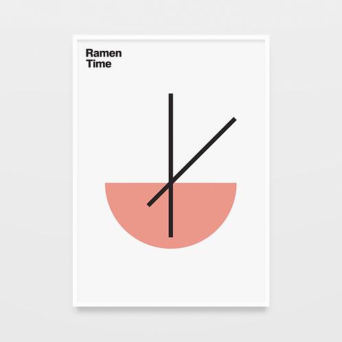 poster ramen time • diogo akio