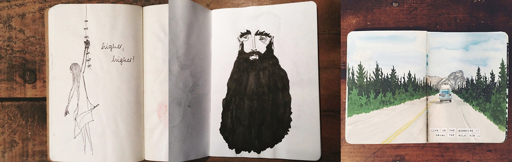 Sketchbooks de: Mira Liimatainen, Karim Estefan e Angela Anne