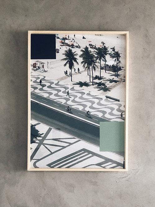 rio II • 70x50cm • pintura sobre fotografia  •  raphael dias | com moldura