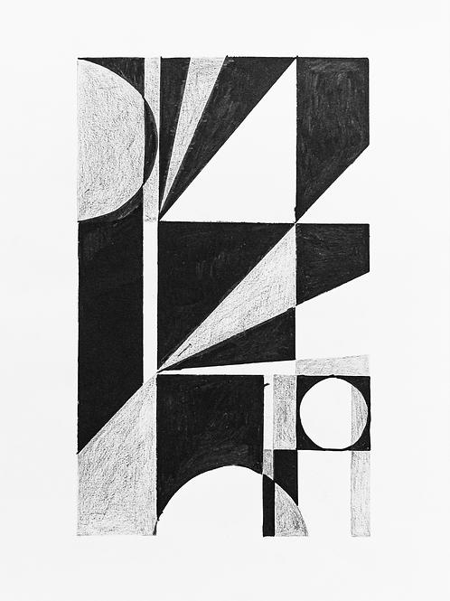 gravura estudo geométrico Nº4 • glauber sampaio | exposição orto