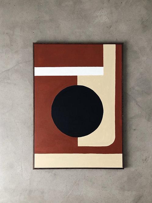 tela pintura orla terracota • raffaele asselta | com moldura