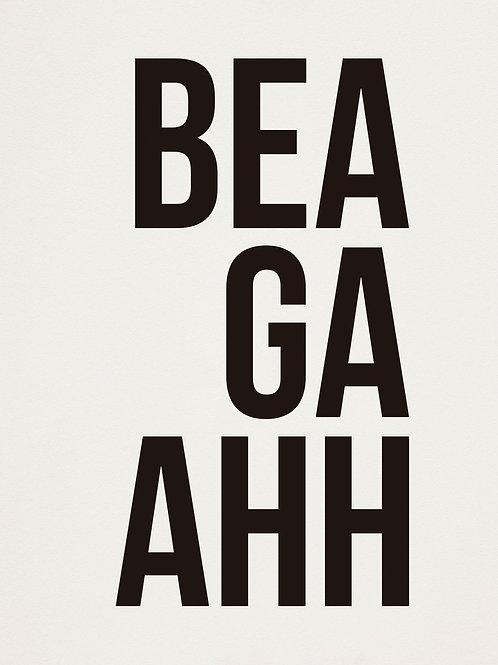 poster beagaahh • ouve