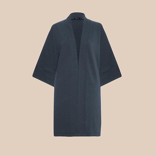 kimono moletom petróleo