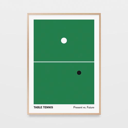 poster table tennis - present vs. future • diogo akio