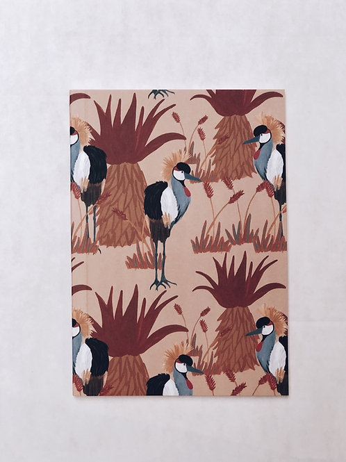 caderno wildness • estampa pássaro ocre