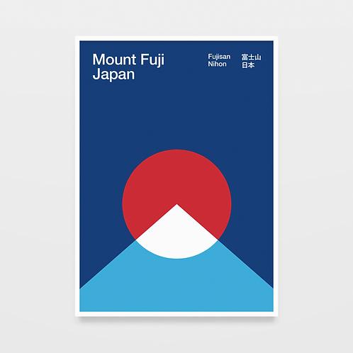 poster mount fuji • diogo akio