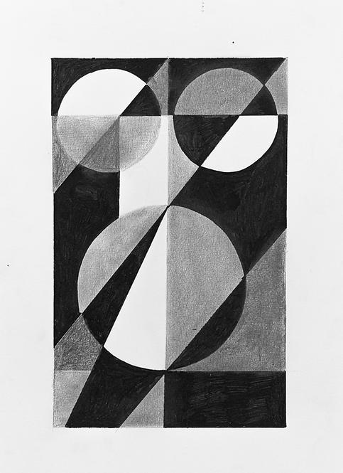 pintura estudo geométrico Nº1 • glauber sampaio | exposição orto | com moldura
