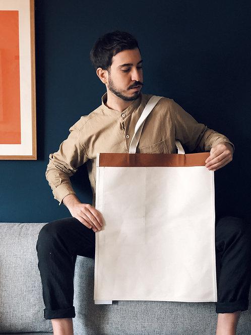 Bolsa Ateliê com bolso para Vinho | várias cores