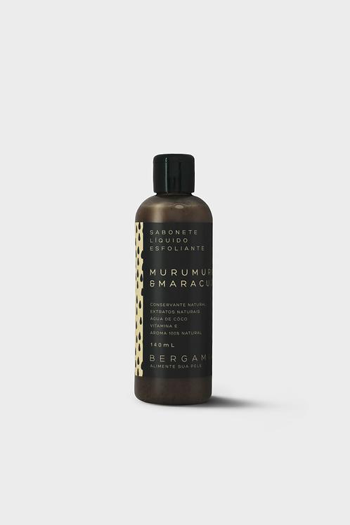 sabonete líquido esfoliante de murumuru e maracujá