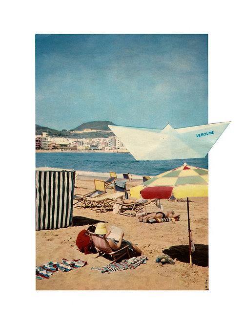 fine art colagem barco de papel • guilherme figueiredo