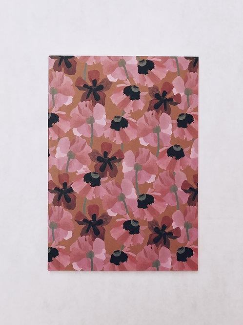 caderno wildness • estampa floral rosa
