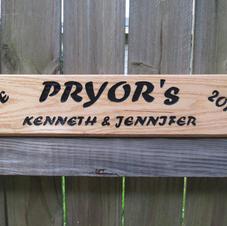 Custom Oak Sign