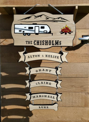 Custom Made Camper Sign
